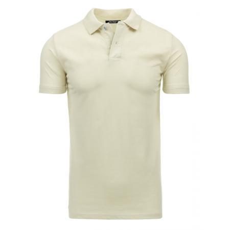 Pánské krémové tričko s límečkem
