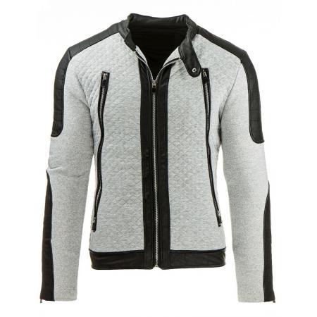 Pánská stylová street bunda šedá