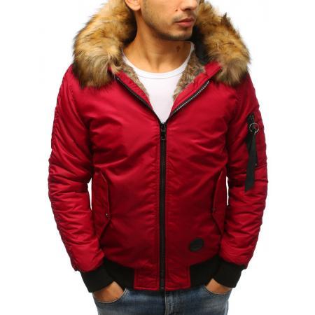 92313f9340ff Pánská zimní bunda bomber jacket červená