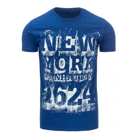 Pánská tričko s potiskem modré