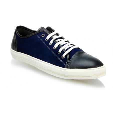 Pánské stylové nízké boty (tenisky) navy MAZARO N42-13
