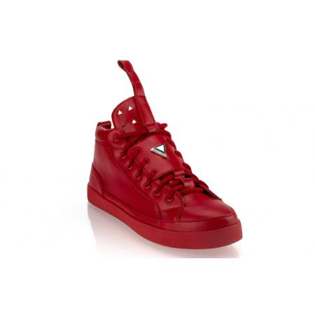 Pánské moderní kožené boty (tenisky) GOV DENIM 008-11RD červené