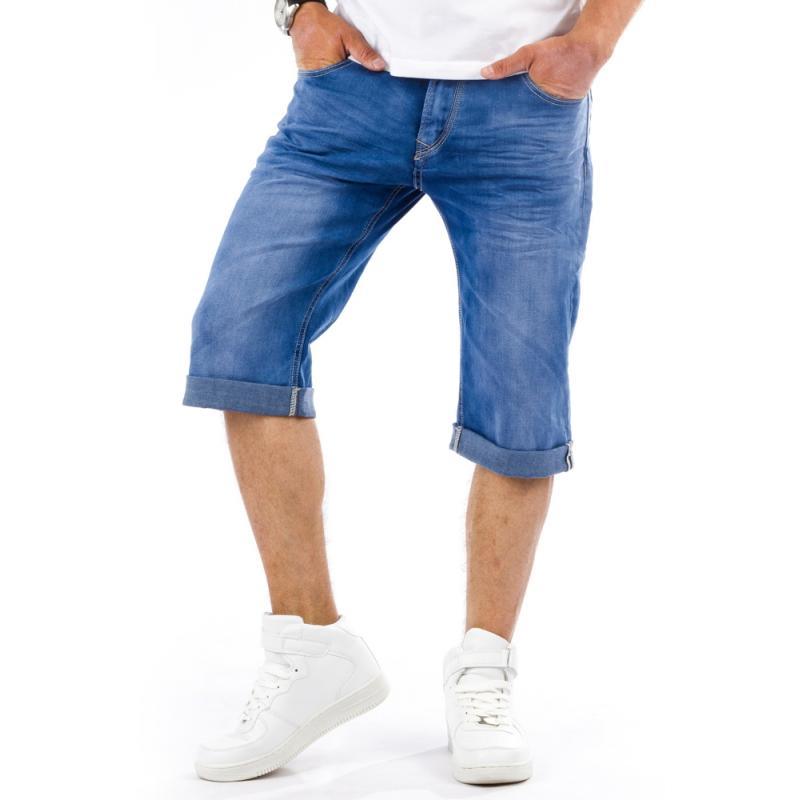 Pánské stylové riflové (džínové) kraťasy pod kolena  78edbb6376