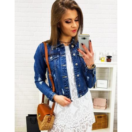 Dámská džínová bunda GLAM modrá