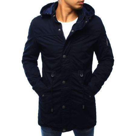 Tmavě modrá pánská zimní bunda - parka