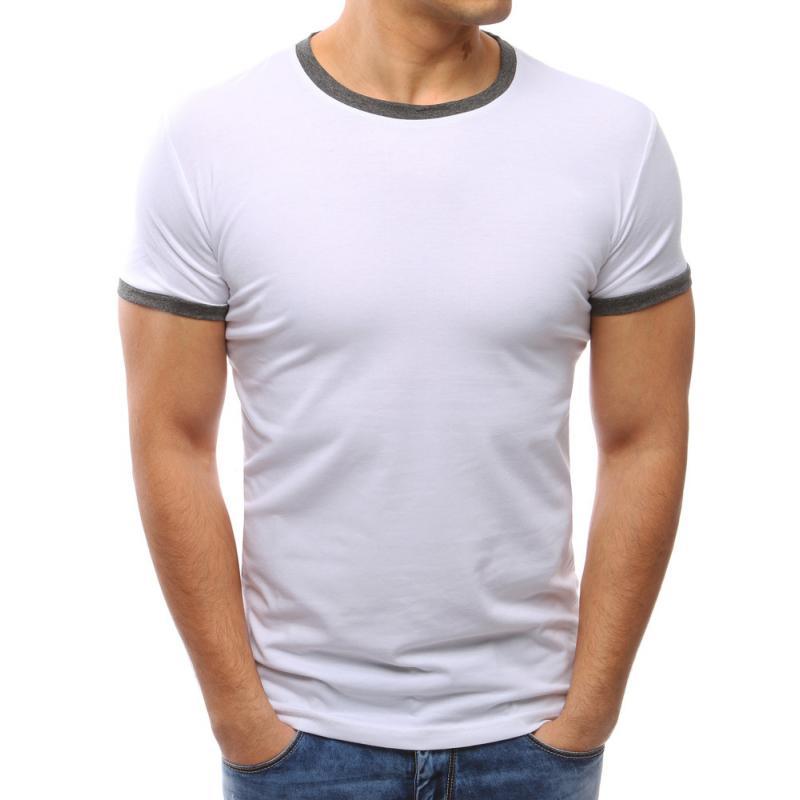 037ea3c5ccb6 Pánské tričko slim fit bílé