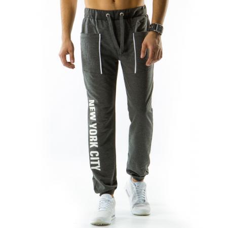 Pánské teplákové kalhoty baggy antracitové