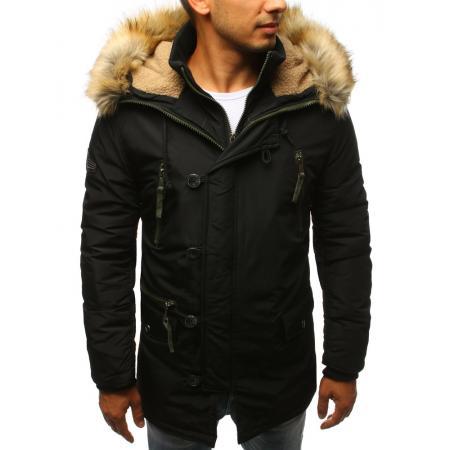 0f541c9b5716 Pánská zimní parka bunda černá