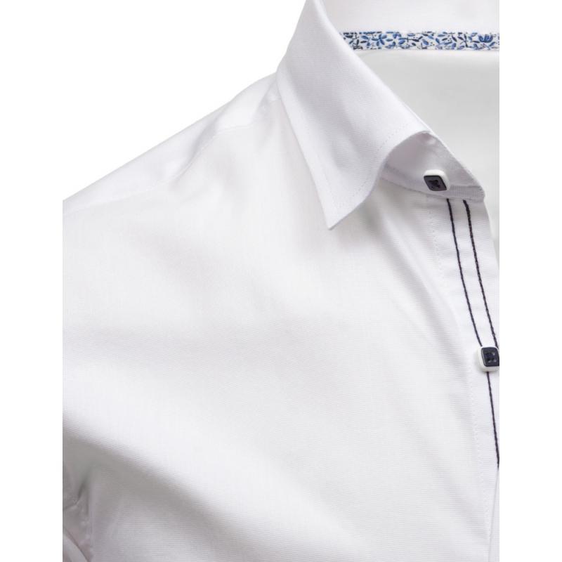 Elegantní pánská košile bílá s dlouhým rukávem  7603fdb464