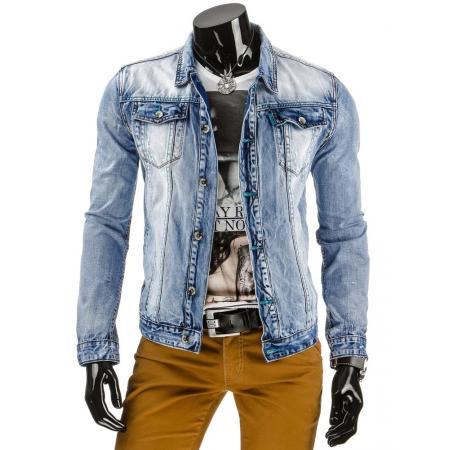 Pánská stylová jeansová (džínová) bunda