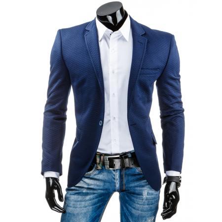 Stylové pánské sako tmavě modré