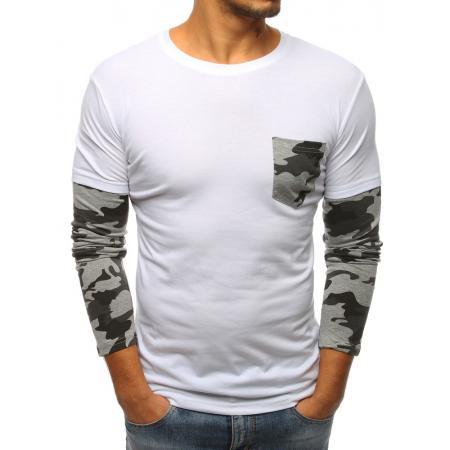 fb78bf04e3e Pánské tričko s dlouhým rukávem bílé