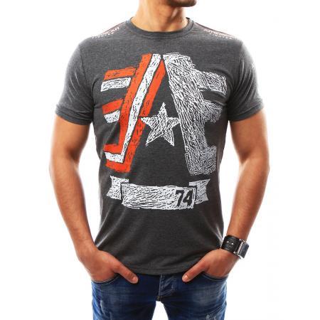 Pánská tričko s potiskem antracitová
