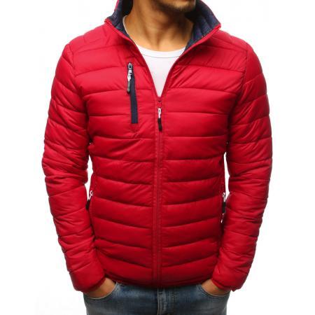 Pánská červená prošívaná bunda