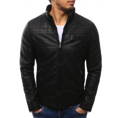 Pánská moderní bunda koženka černá