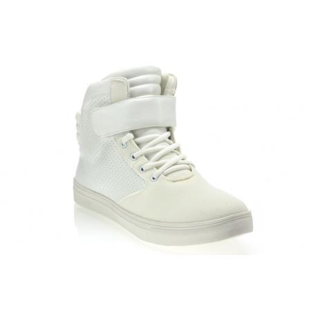 Pánské kotníkové boty semiš koženka GOV DENIM 008-5WH bílé
