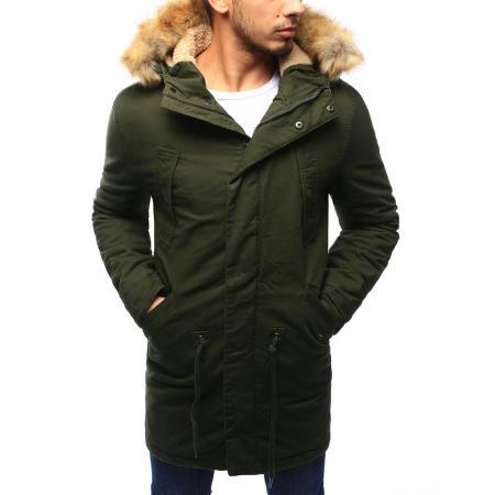 Pánská bunda parka zimní khaki