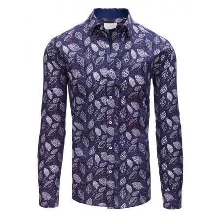 61fba5e105a6 Pánská ELEGANT košile se vzorem listů flanelová