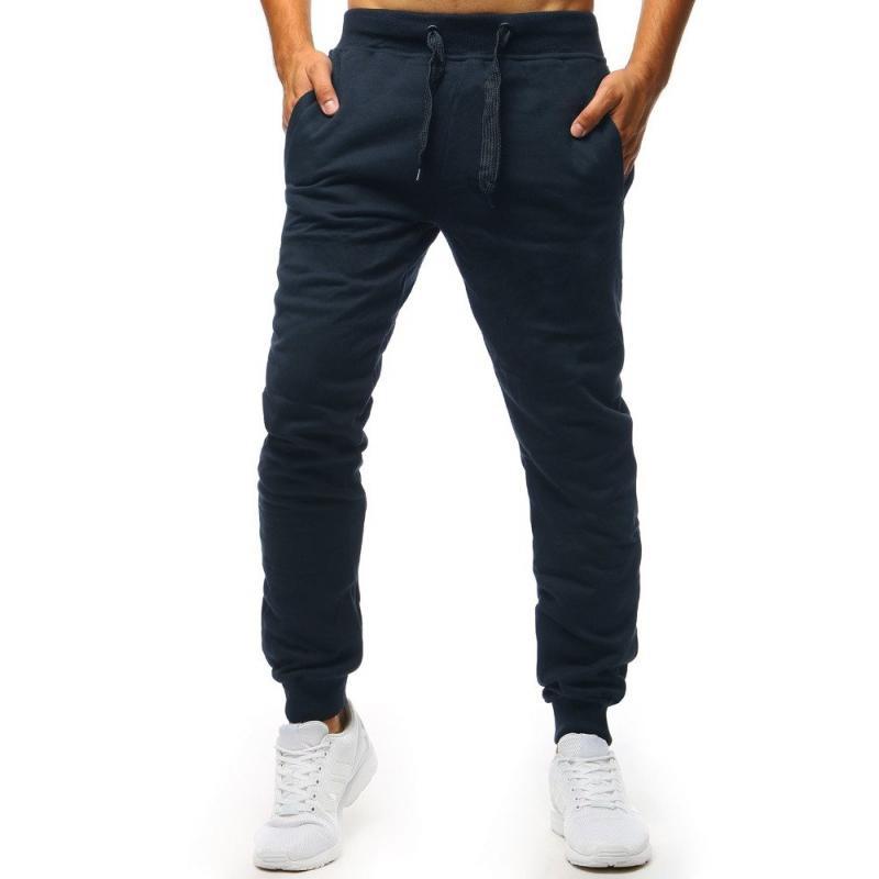 25eb9184ce30 Pánské STYLE kalhoty tepláky tmavě modré bez potisku