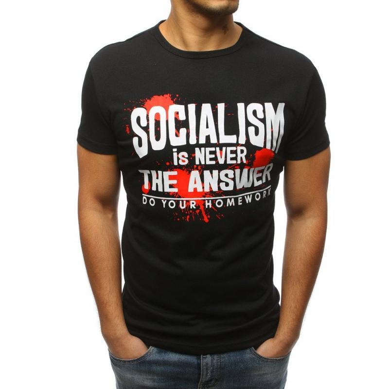 75e1c1265e0c Pánské stylové tričko s potiskem černé