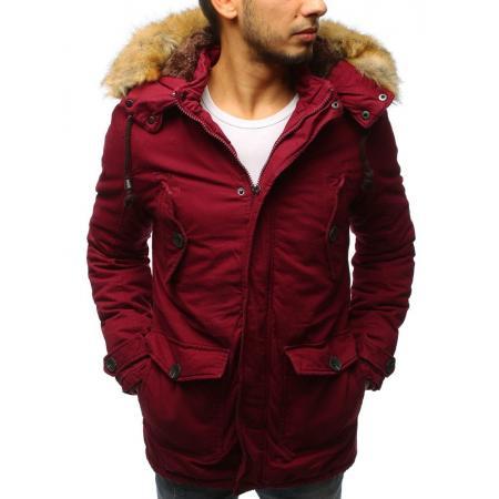 Pánská zimní bunda parka červená