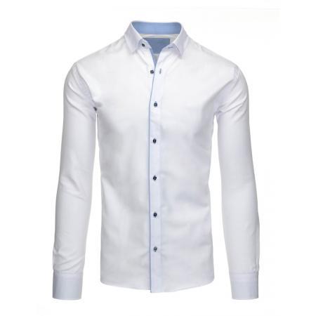 Pánská stylová košile bílá s dlouhým rukávem