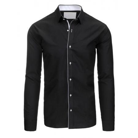 Černá pánská košile elegantní
