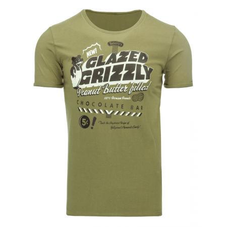Pánské tričko s potiskem (triko) khaki