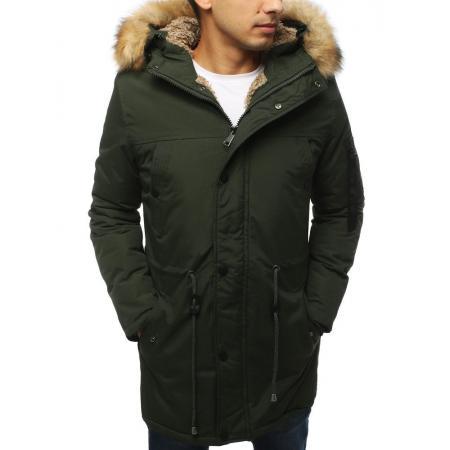 Pánská bunda parka zimní khaki TX3052