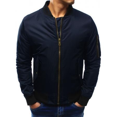 Pánská bunda bomber jacket tmavě modrá