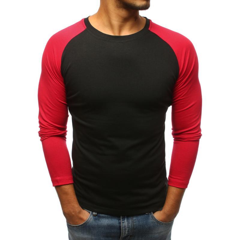 Pánské černé baseball tričko s dlouhým rukávem  d291639001