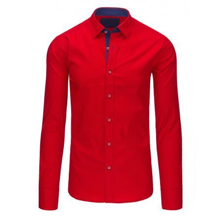 Pánská červená košile s dlouhým rukávem