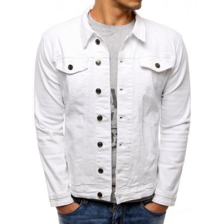 Pánská bunda džínová bílá