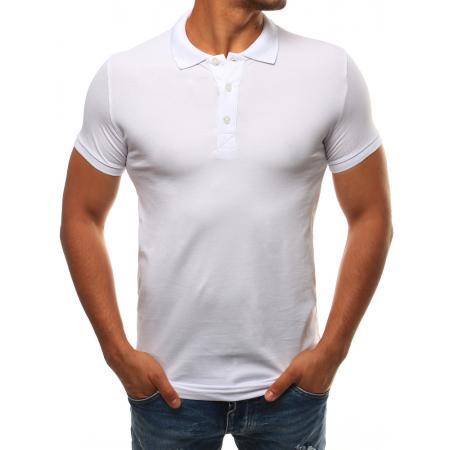 Pánské bílé tričko s límečkem