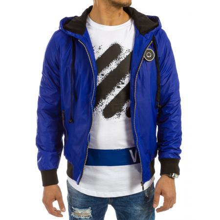 Pánská bunda přechodová světle modrá