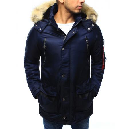 Pánská bunda zimní granátová