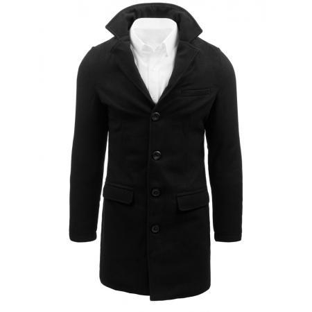 Černý pánský kabát