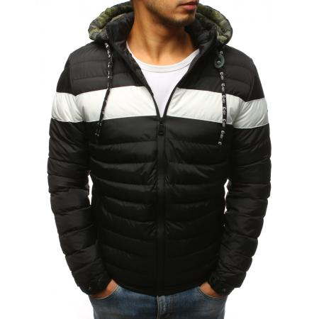 Zimní pánská bunda prošívaná černá