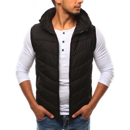 Pánská vesta s kapucí černá