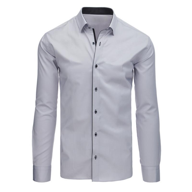 Pánská STYLE košile elegantní šedá  bd24c9cda5