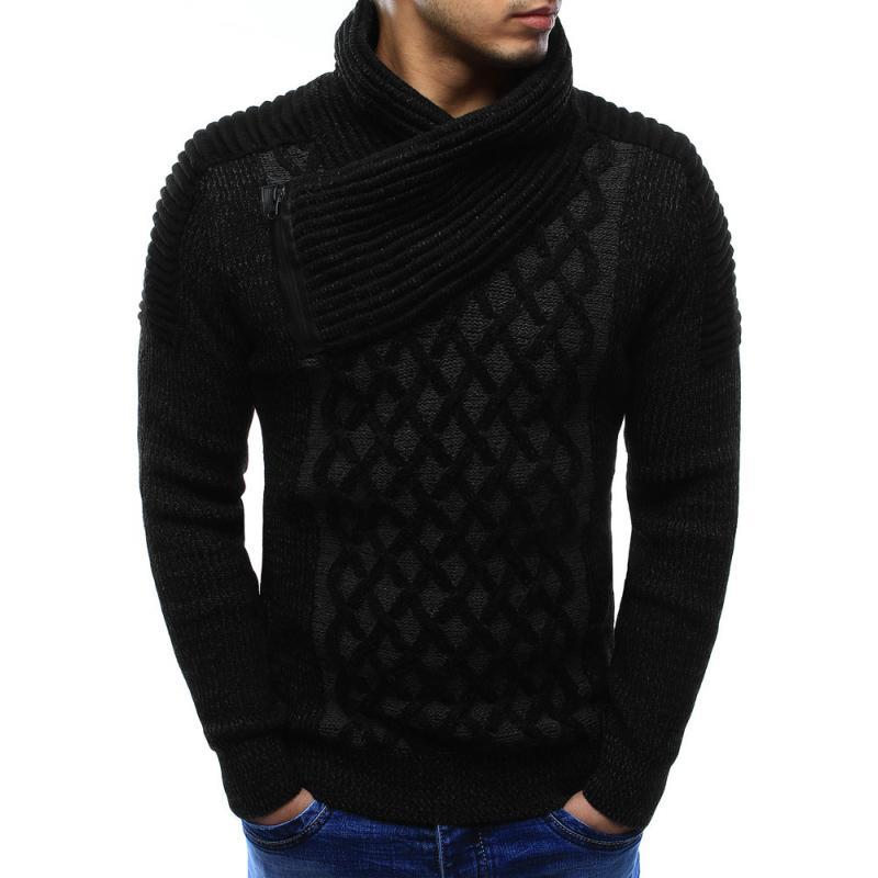 Pánský svetr černý  748955bb74