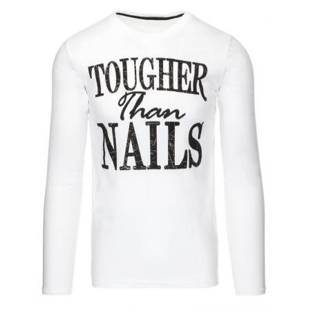 Pánské tričko s potiskem s dlouhým rukávem s potiskem bílé 7cd881c2dd