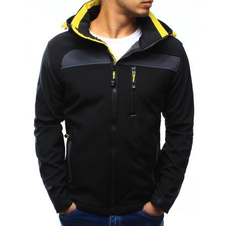 Pánská bunda softshell s kapucí černá