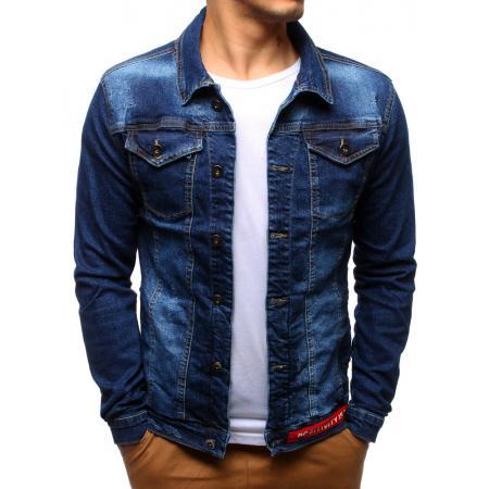 Pánská bunda džínová světle modrá