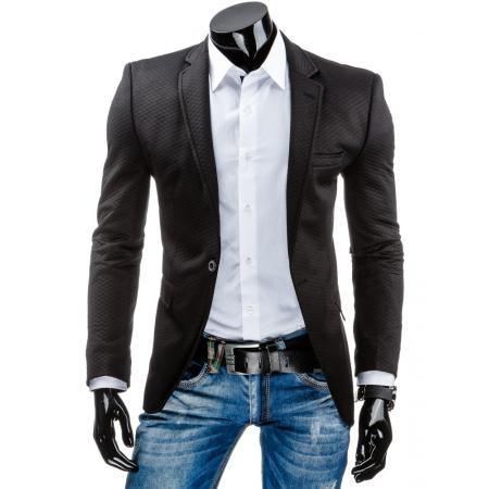 Stylové pánské sako černé