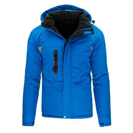 Pánská zimní lyžařská bunda v modré barvě
