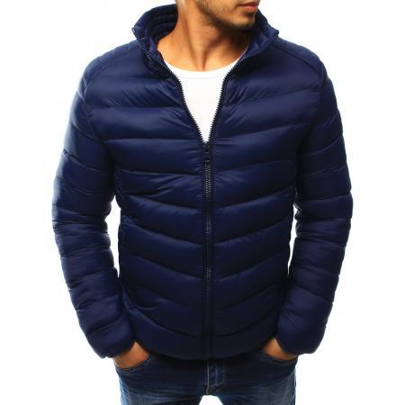 Pánská bunda prošívaná tmavě modrá