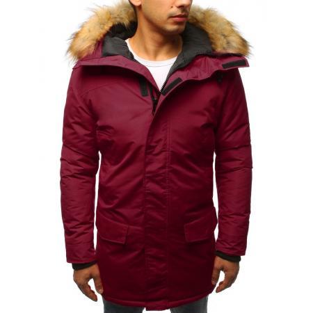 Pánská zimní bunda červená