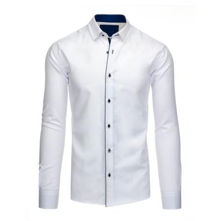 Pánská stylová košile bílá s lehce vyštíhleným střihem 51c988a10f