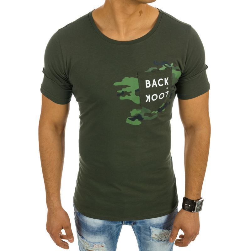 Pánská tričko s potiskem zelené  cec699393f
